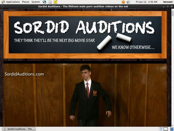 Sordid Auditions Checkout