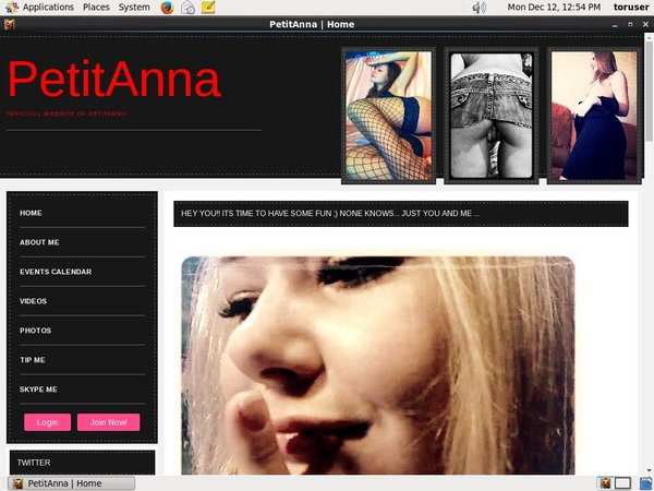 Petit Anna Website Accounts